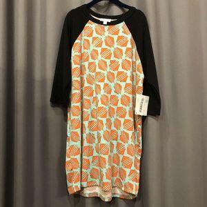 LuLaRoe Sloan Size 12 Black Mint Orange Geometric